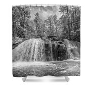 Turtletown Creek In Black And White Shower Curtain