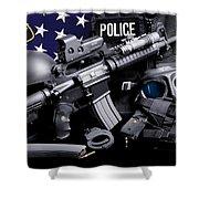 Tuscaloosa Police Shower Curtain by Gary Yost