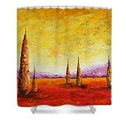 Tuscan Blast Shower Curtain