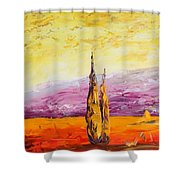 Tuscan Blast Crop Shower Curtain