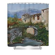 Tuscan Bridge Shower Curtain