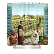 Tuscan Delights Shower Curtain by Marilyn Dunlap
