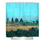 Tuscan Farm Shower Curtain
