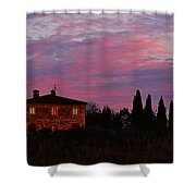 Tuscan Farmhouse And Morning Glow Shower Curtain