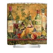 Tuscan In Vino Veritas Shower Curtain