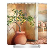 Tuscan Lemon Tree Shower Curtain