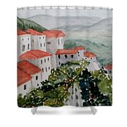 Tuscan Roof  Tops Shower Curtain