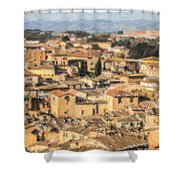 Tuscan Rooftops Siena Shower Curtain