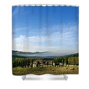 Tuscan Sky Vineyard Shower Curtain