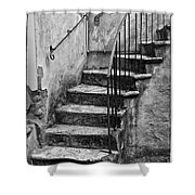 Tuscan Staircase Bw Shower Curtain