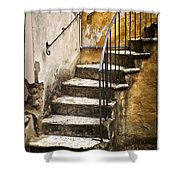 Tuscan Staircase Shower Curtain
