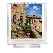 Tuscan Terrace Poster Shower Curtain