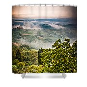 Tuscan View Shower Curtain by Silvia Ganora