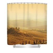 Tuscan Villa Sunrise Shower Curtain