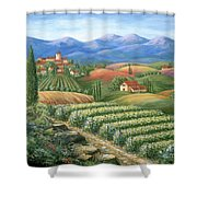 Tuscan Vineyard And Village  Shower Curtain