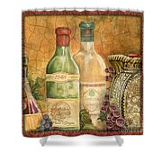 Tuscan Wine-a Shower Curtain