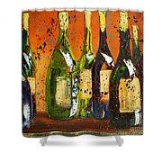 Tuscan Wine Shower Curtain