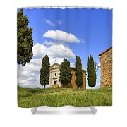 Tuscany - Cappella Di Vitaleta Shower Curtain