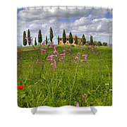 Tuscany - Pienza Shower Curtain