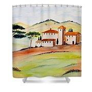 Tuscany-again And Again Shower Curtain