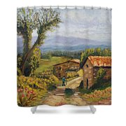 Tuscany Farm Road Shower Curtain