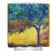Tuscany Hill Side Shadows Shower Curtain