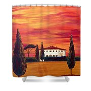 Tuscany In Red Shower Curtain