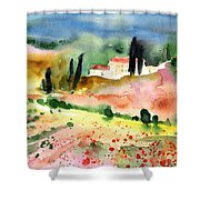 Tuscany Landscape 02 Shower Curtain