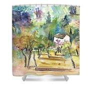 Tuscany Landscape 05 Shower Curtain