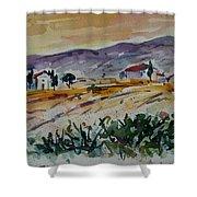 Tuscany Landscape 1 Shower Curtain