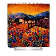 Tuscany Poppies Shower Curtain by Pol Ledent