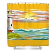 Tuscany Sea Shower Curtain