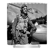 Tuskegee Airman Shower Curtain