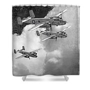 Tuskegee Airman...616th Bombardment Group Shower Curtain