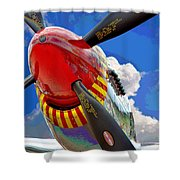 Tuskegee Airmen Fighter Plane Shower Curtain