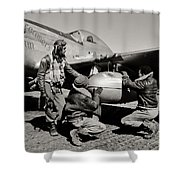 Tuskegee Preflight Shower Curtain