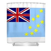 Tuvalu Flag Shower Curtain