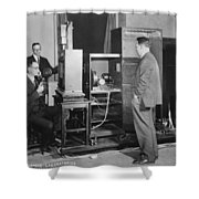 Tv Demonstration At Bell Labs Shower Curtain
