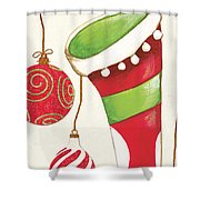 Twas The Night...2 Shower Curtain by Debbie DeWitt