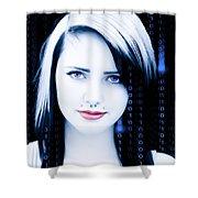 Twenty First Century Girl Shower Curtain
