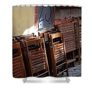 Twenty-five Folded Chairs Shower Curtain