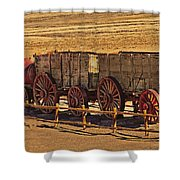 Twenty-mule Team In Sepia Shower Curtain
