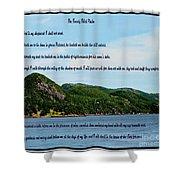 Twenty Third Psalm And Mountains Shower Curtain