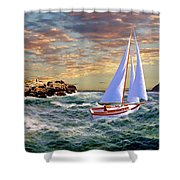 Twilight At Portland Shower Curtain