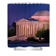 Twilight At The Jefferson Memorial Shower Curtain