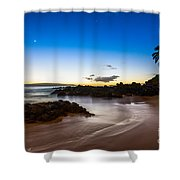 Twilight Beach - Beautiful And Secluded Secret Beach In Maui. Shower Curtain