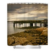 Twilight Cape Porpoise Maine Shower Curtain