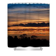 Twilight Colorful Sunset Shower Curtain