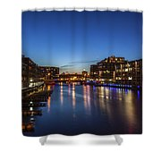 Twilight Docks Shower Curtain