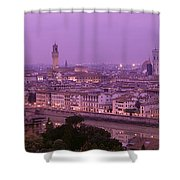Twilight, Florence, Italy Shower Curtain